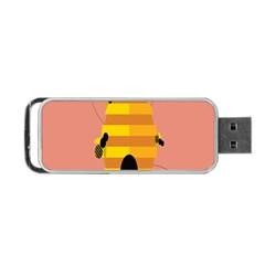Honeycomb Wasp Portable Usb Flash (one Side) by Alisyart