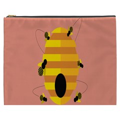 Honeycomb Wasp Cosmetic Bag (xxxl)  by Alisyart