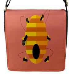 Honeycomb Wasp Flap Messenger Bag (s) by Alisyart