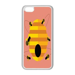Honeycomb Wasp Apple Iphone 5c Seamless Case (white) by Alisyart
