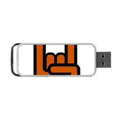 Metal Hand Portable Usb Flash (one Side) by Alisyart