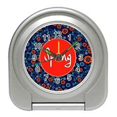 Floral Texture Pattern Card Floral Seamless Vector Travel Alarm Clocks by Simbadda