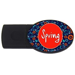 Floral Texture Pattern Card Floral Seamless Vector Usb Flash Drive Oval (4 Gb) by Simbadda