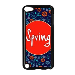 Floral Texture Pattern Card Floral Seamless Vector Apple Ipod Touch 5 Case (black) by Simbadda