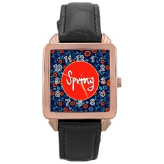Floral Texture Pattern Card Floral Seamless Vector Rose Gold Leather Watch  by Simbadda