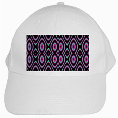 Colorful Seamless Pattern Vibrant Pattern White Cap by Simbadda