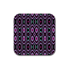 Colorful Seamless Pattern Vibrant Pattern Rubber Coaster (square)  by Simbadda