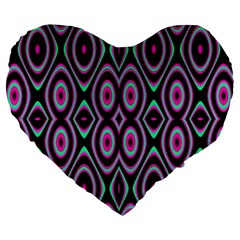 Colorful Seamless Pattern Vibrant Pattern Large 19  Premium Heart Shape Cushions by Simbadda