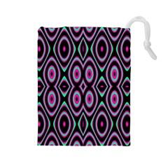 Colorful Seamless Pattern Vibrant Pattern Drawstring Pouches (large)  by Simbadda