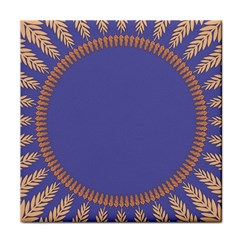 Frame Of Leafs Pattern Background Tile Coasters by Simbadda