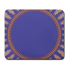 Frame Of Leafs Pattern Background Large Mousepads by Simbadda