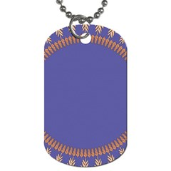 Frame Of Leafs Pattern Background Dog Tag (two Sides) by Simbadda