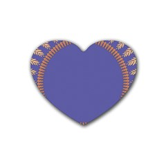 Frame Of Leafs Pattern Background Rubber Coaster (heart)  by Simbadda