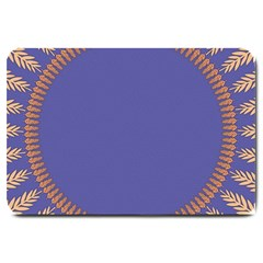 Frame Of Leafs Pattern Background Large Doormat  by Simbadda