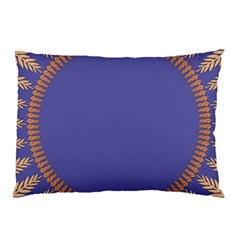 Frame Of Leafs Pattern Background Pillow Case (two Sides) by Simbadda