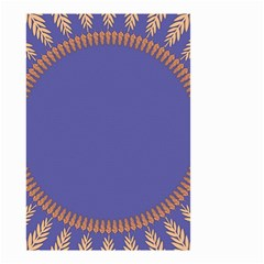 Frame Of Leafs Pattern Background Small Garden Flag (two Sides) by Simbadda