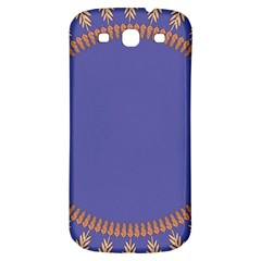 Frame Of Leafs Pattern Background Samsung Galaxy S3 S Iii Classic Hardshell Back Case by Simbadda