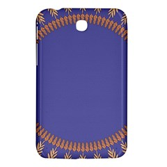 Frame Of Leafs Pattern Background Samsung Galaxy Tab 3 (7 ) P3200 Hardshell Case  by Simbadda