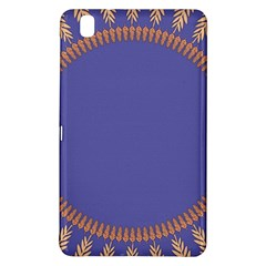 Frame Of Leafs Pattern Background Samsung Galaxy Tab Pro 8 4 Hardshell Case by Simbadda