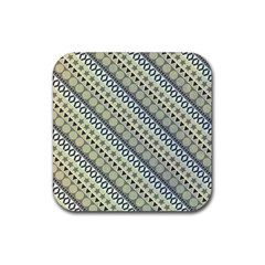 Abstract Seamless Background Pattern Rubber Square Coaster (4 Pack)  by Simbadda