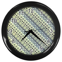 Abstract Seamless Background Pattern Wall Clocks (black)