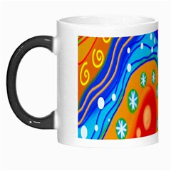 Hand Painted Digital Doodle Abstract Pattern Morph Mugs by Simbadda