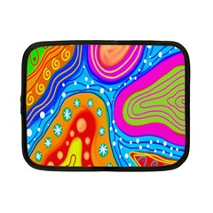 Hand Painted Digital Doodle Abstract Pattern Netbook Case (small)  by Simbadda