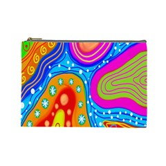 Hand Painted Digital Doodle Abstract Pattern Cosmetic Bag (large)  by Simbadda