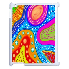 Hand Painted Digital Doodle Abstract Pattern Apple Ipad 2 Case (white) by Simbadda