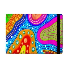 Hand Painted Digital Doodle Abstract Pattern Apple Ipad Mini Flip Case by Simbadda