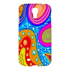 Hand Painted Digital Doodle Abstract Pattern Samsung Galaxy S4 I9500/i9505 Hardshell Case by Simbadda