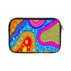 Hand Painted Digital Doodle Abstract Pattern Apple Ipad Mini Zipper Cases by Simbadda