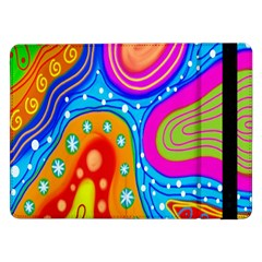 Hand Painted Digital Doodle Abstract Pattern Samsung Galaxy Tab Pro 12.2  Flip Case