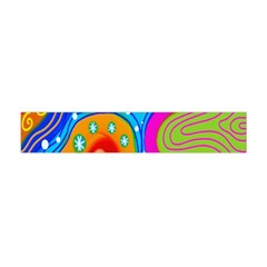 Hand Painted Digital Doodle Abstract Pattern Flano Scarf (mini) by Simbadda
