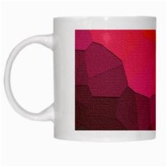 Abstract Elegant Background Pattern White Mugs by Simbadda