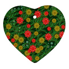 Completely Seamless Tile With Flower Ornament (heart) by Simbadda