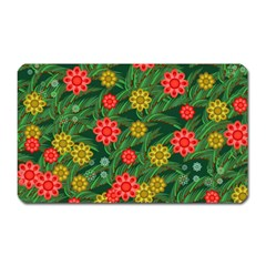 Completely Seamless Tile With Flower Magnet (rectangular) by Simbadda