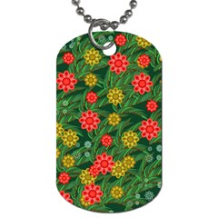 Completely Seamless Tile With Flower Dog Tag (one Side) by Simbadda