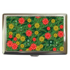Completely Seamless Tile With Flower Cigarette Money Cases by Simbadda
