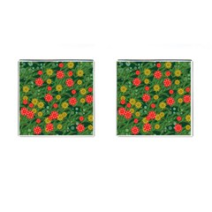 Completely Seamless Tile With Flower Cufflinks (square) by Simbadda