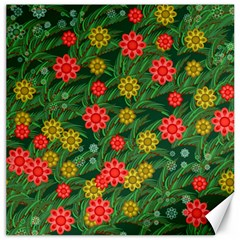 Completely Seamless Tile With Flower Canvas 12  X 12   by Simbadda