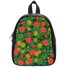 Completely Seamless Tile With Flower School Bags (small)  by Simbadda