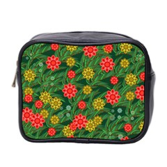 Completely Seamless Tile With Flower Mini Toiletries Bag 2 Side by Simbadda