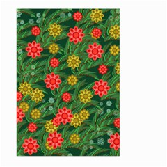 Completely Seamless Tile With Flower Large Garden Flag (two Sides) by Simbadda