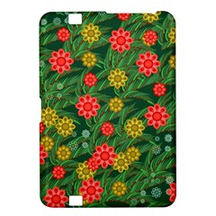 Completely Seamless Tile With Flower Kindle Fire Hd 8 9  by Simbadda