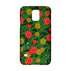 Completely Seamless Tile With Flower Samsung Galaxy S5 Hardshell Case  by Simbadda