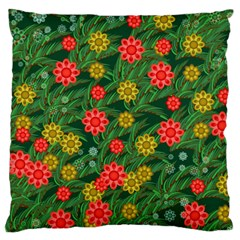 Completely Seamless Tile With Flower Large Flano Cushion Case (two Sides) by Simbadda
