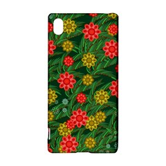 Completely Seamless Tile With Flower Sony Xperia Z3+ by Simbadda
