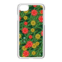 Completely Seamless Tile With Flower Apple Iphone 7 Seamless Case (white) by Simbadda