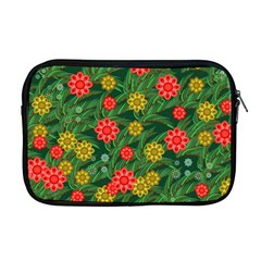 Completely Seamless Tile With Flower Apple Macbook Pro 17  Zipper Case by Simbadda